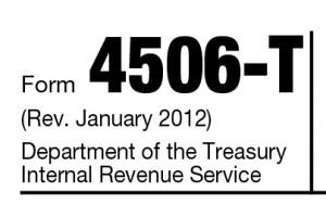 Form 4506-T verification